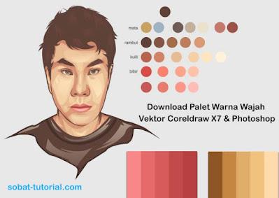 Download Palet Warna Wajah Vektor Coreldraw X7 & Photoshop