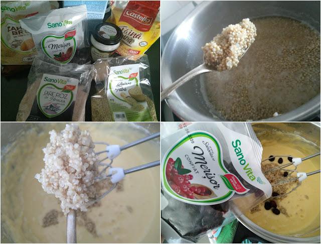 Brioșe cu quinoa și merișoare