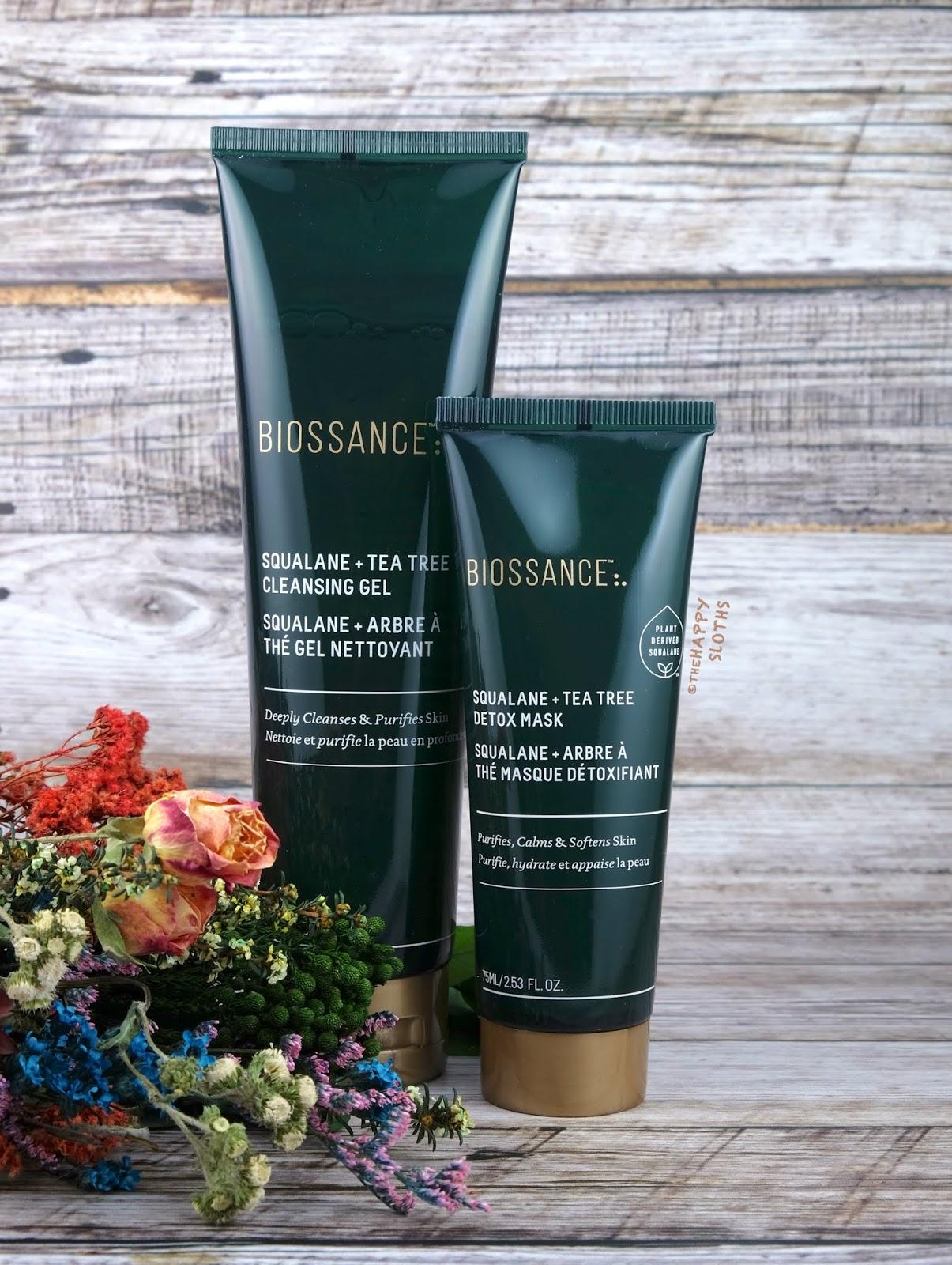 Biossance   Squalane + Tea Tree Cleansing Gel & Detox Mask: Review