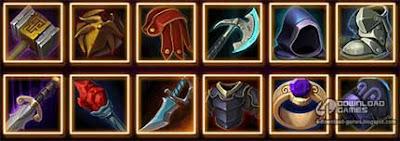 عناصر واسلحة لعبة Midas Gold Plus