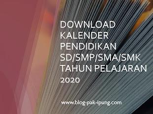 DOWNLOAD KALENDER PENDIDIKAN SD/SMP/SMA/SMK TAHUN PELAJARAN 2020/2021
