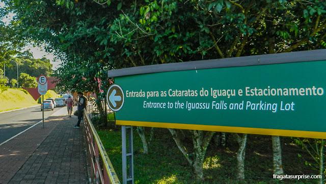 Entrada do Parque Nacional das Cataratas do Iguaçu