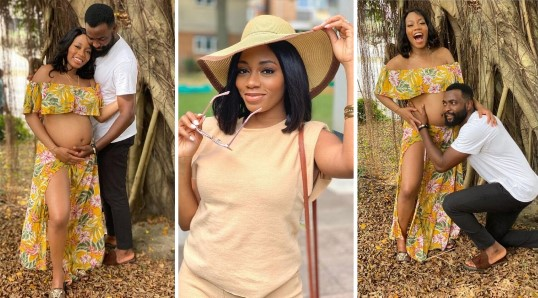 """""""I'm The Happiest Man On This Planet"""" - Gedoni Says As He & Khafi Share Baby Bump Photos"""