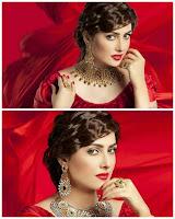 Stunning Shoot of Ayeza Khan in Red Dress