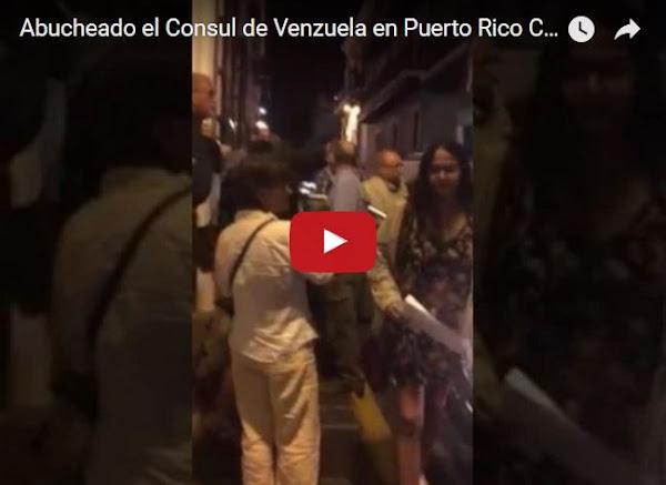 Cónsul de Venezuela en Puerto Rico abucheado a su salida
