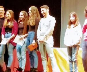 Ganadores del  I Concurso de Lectura en Público de nuestro instituto