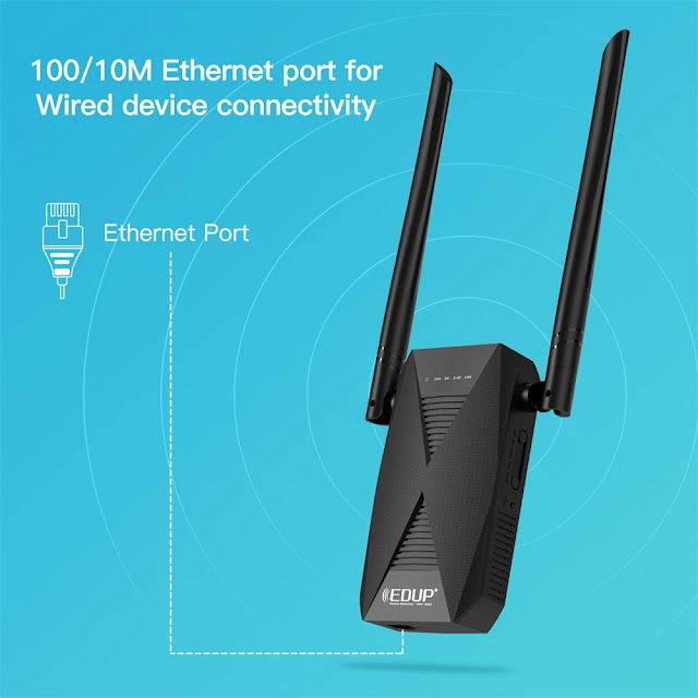EDUP 1200M WiFi Repeater Dual Band 2.4G&5GHz WiFi Extender Wireless 802.11AC Router Signal Booster for home Wlan Port Amplifier