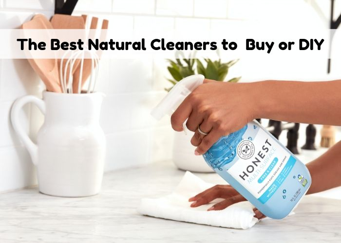 The best natural cleaning products that work. These eco friendly products for the home work great and are budget friendly. These are the best brands of natural cleaners to use all over your home.  Also includes DIY homemade natural cleaners with essential oils.  Learn how to make and how to use natural cleaning recipes for the bathroom, laundry detergent, floor, kitchen, and all over your hom.  This list of simple recipes will help you maintain better health at home while you clean. #natural #ecofriendly #clean #diy #cleaning
