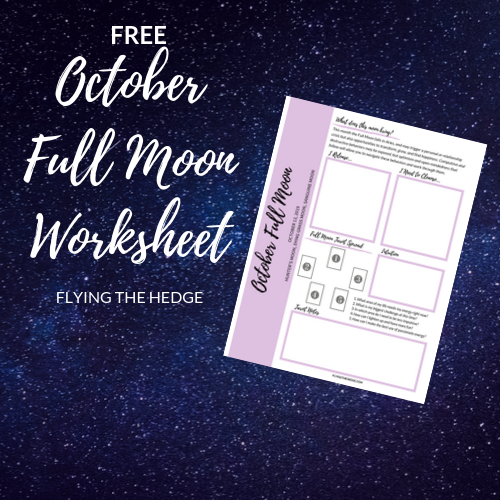 October Full Moon Worksheet