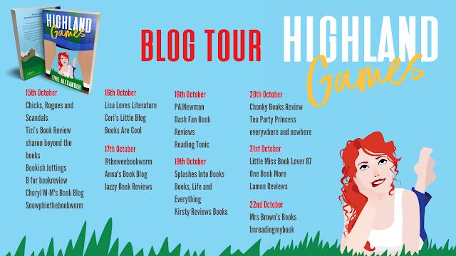 Highland Games by Evie Alexander blog tour banner