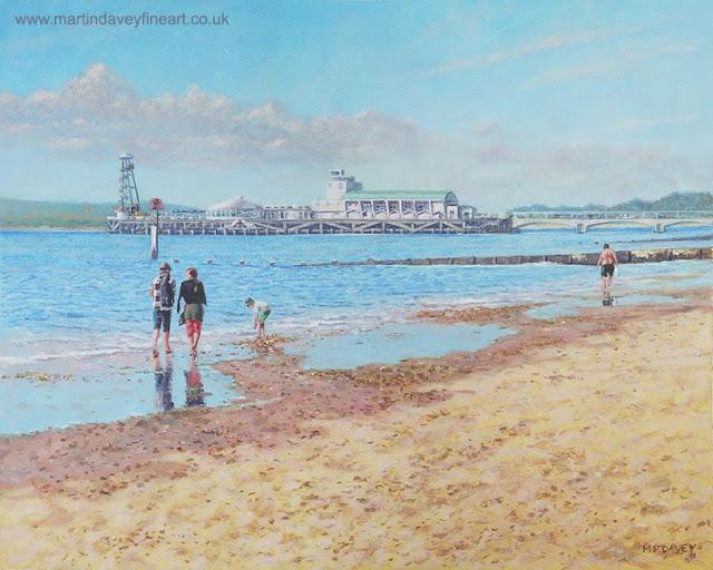 M P Davey artist pier Bournemouth Dorset painting