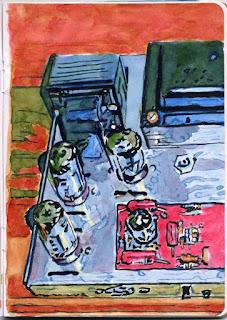 """""""Dynaco ST-70"""" - Watercolor by Paul Sherman"""
