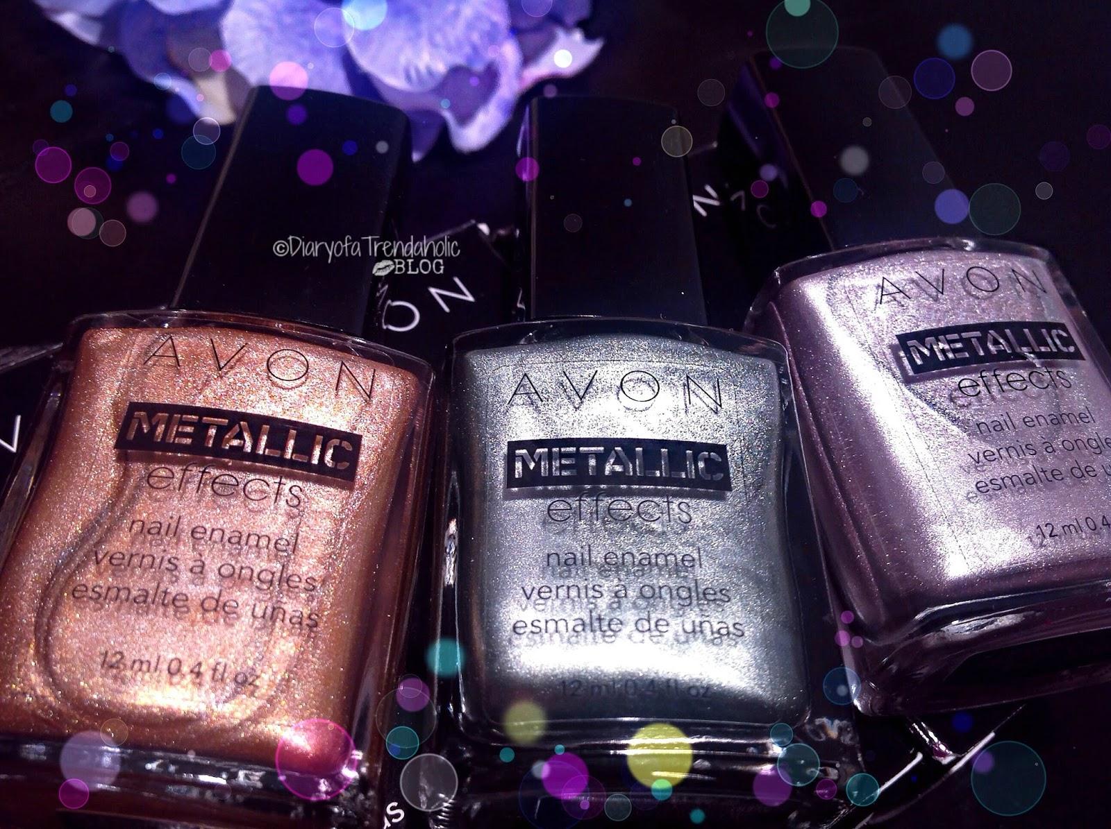 Diary Of A Trendaholic Avon Metallic Effects Nail Enamel Review