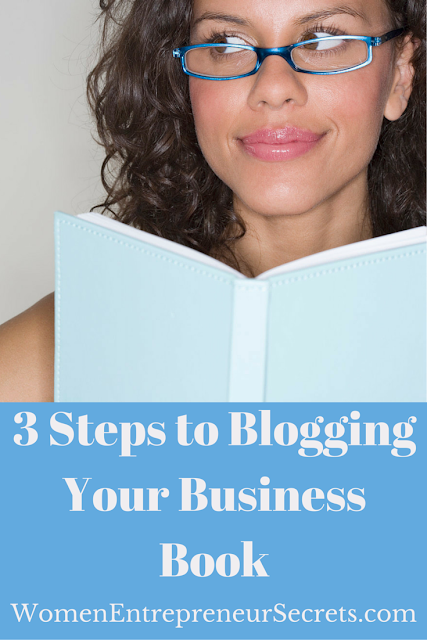 3 steps to blogging your business book
