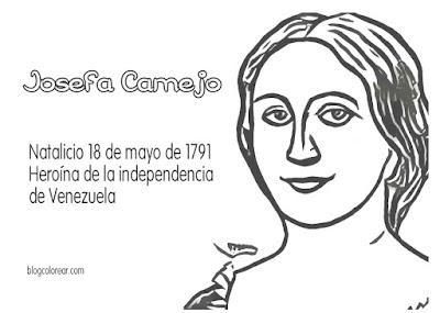 Colorear Josefa Camejo