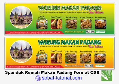 Desain Banner Spanduk Rumah Makan Padang CDR