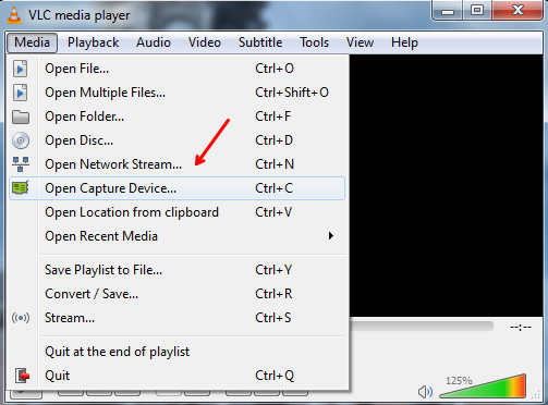 How to record Desktop Screen using VLC Player on Windows 10