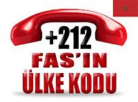 +212 Fas ülke telefon kodu