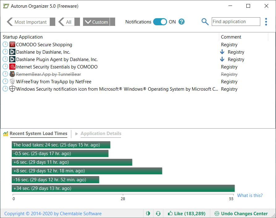 Autorun Organizer Main Interface Screenshot