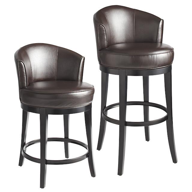 темно коричневая модель стульев сIsaac Ivory Swivel Bar & Counter Stool