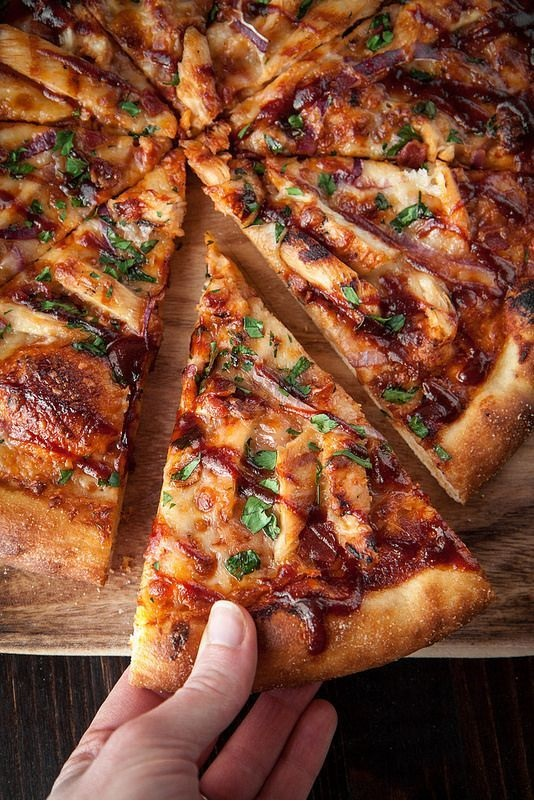 Barbecue Chicken Pizza With Homemade (Sweet Baby Ray's) Sauce