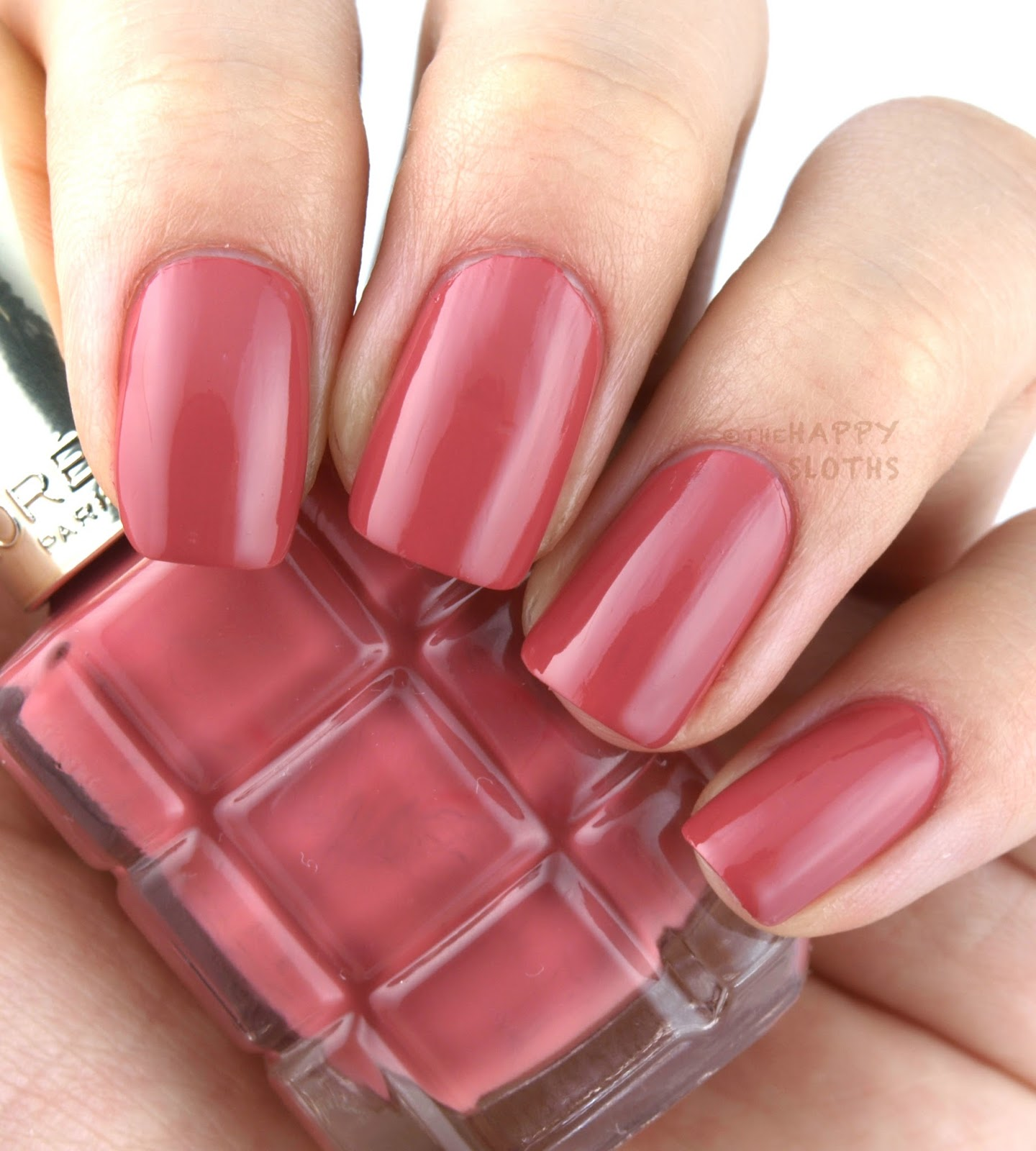 l 39 oreal color riche le vernis a l 39 huile nail polish review and swatches the happy sloths. Black Bedroom Furniture Sets. Home Design Ideas