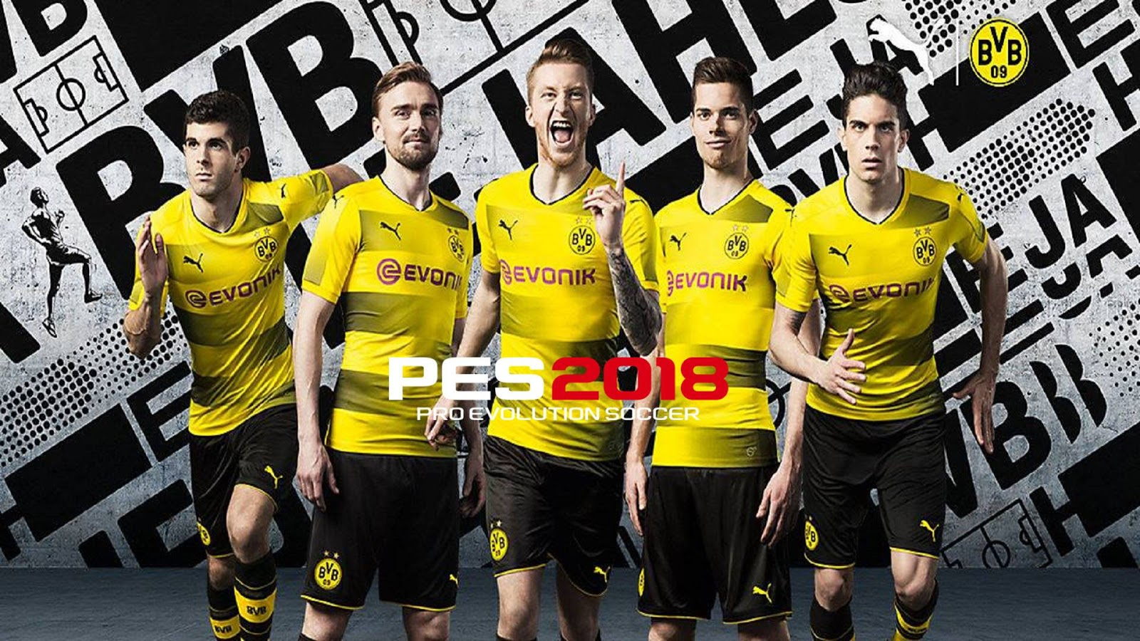 Startscreen BVB Pes 2018 For Pes 2017 by AD Mod's