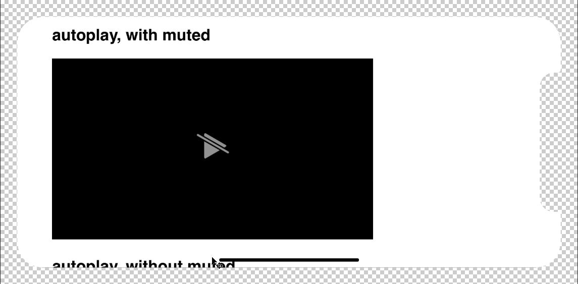 video自動播放 iphonex