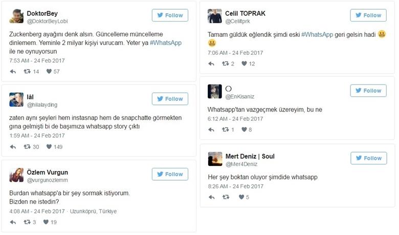 Twitter'dan Gelen Bazı Tepkiler :