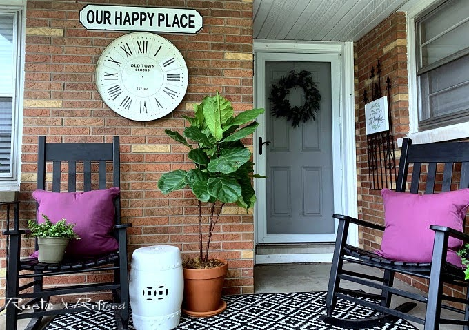 Decorating a small porch with southern flair for summer using a timeless colors ready for a heat wave and not spending a dime.