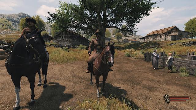 Mount and Blade II: Bannerlord - фэнтезийные мужчина и женщина на чем-то похожем на лошадей