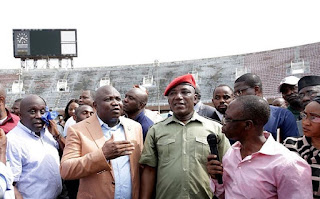 Ambode on a visit to surulere national national stadium