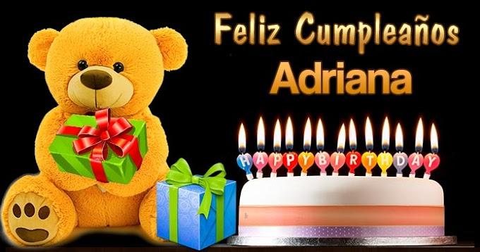 Feliz Cumpleaños Adriana