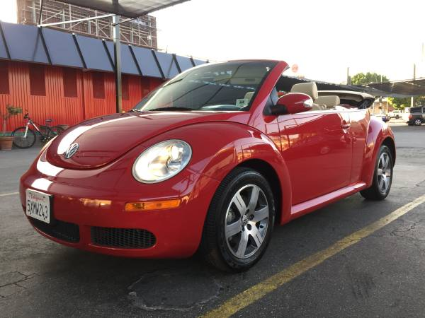 VW New Beetle Red Convertible