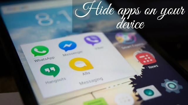how to hide app on android phones? require any app hider app?