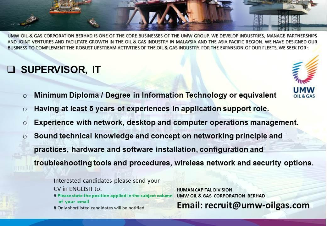 JOBSADVERTOG.BLOGSPOT.COM: UMW Oil & Gas Corporation Berhad