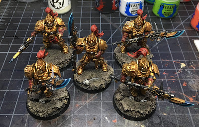 Custodian Guard with Halberds WIP on Bases