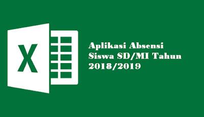 Aplikasi Absensi Siswa SD/MI Tahun 2018/2019