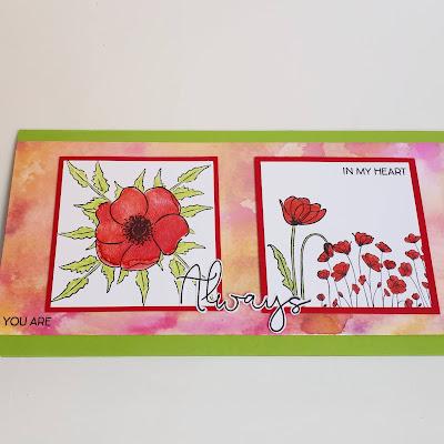 Mohnblütenkarte auf Aquarellhintergrund Stampin' Up! www.eris-kreativwerkstatt.blogspot.de
