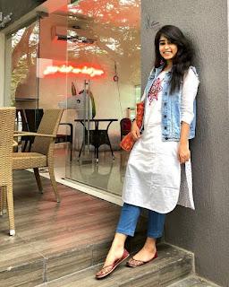 how to style denim jacket with kurti