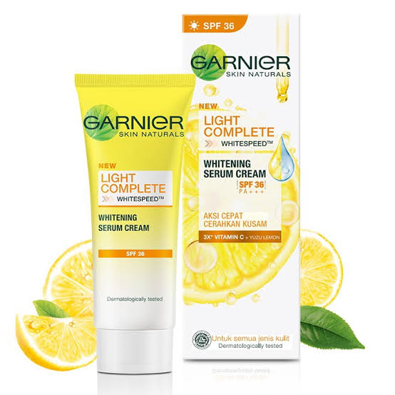 Review Garnier Light Complete White Speed Whitening Serum Cream