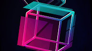 Cube Floaterm, abstract mobile wallpaper