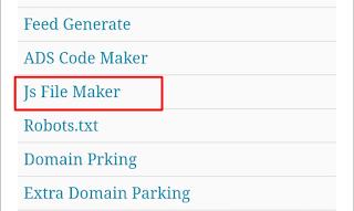 Js file maker