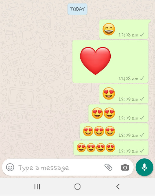 Make emojis bigger on WhatsApp