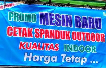 Harga Cetak Banner Spanduk per meter Terbaru