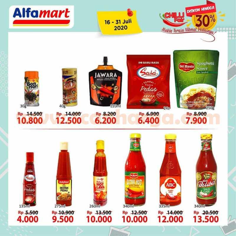 Promo Alfamart Chilli Fair Festival Sambal & Saos Periode 16 - 31 Juli 2020
