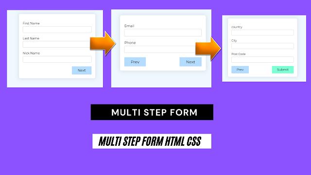 multi step form   multi step form html css