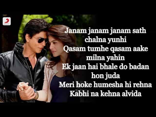 Janam Janam Lyrics In English