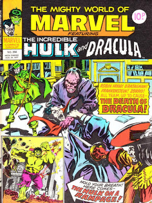 Mighty World of Marvel #256, Dracula and the Hulk