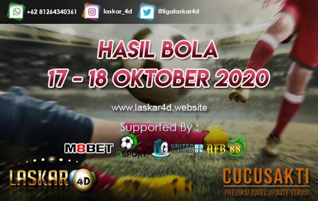 HASIL BOLA JITU TANGGAL 17 - 18 OKTOBER 2020